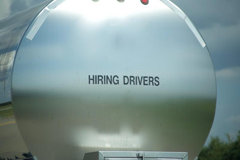 Trucking Company Hiring Drivers royalty free stock photo