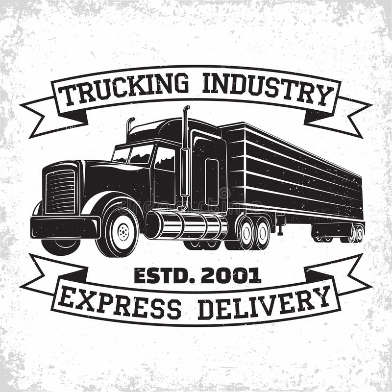 Vintage Logo Design Stock Vector. Illustration Of Delivery