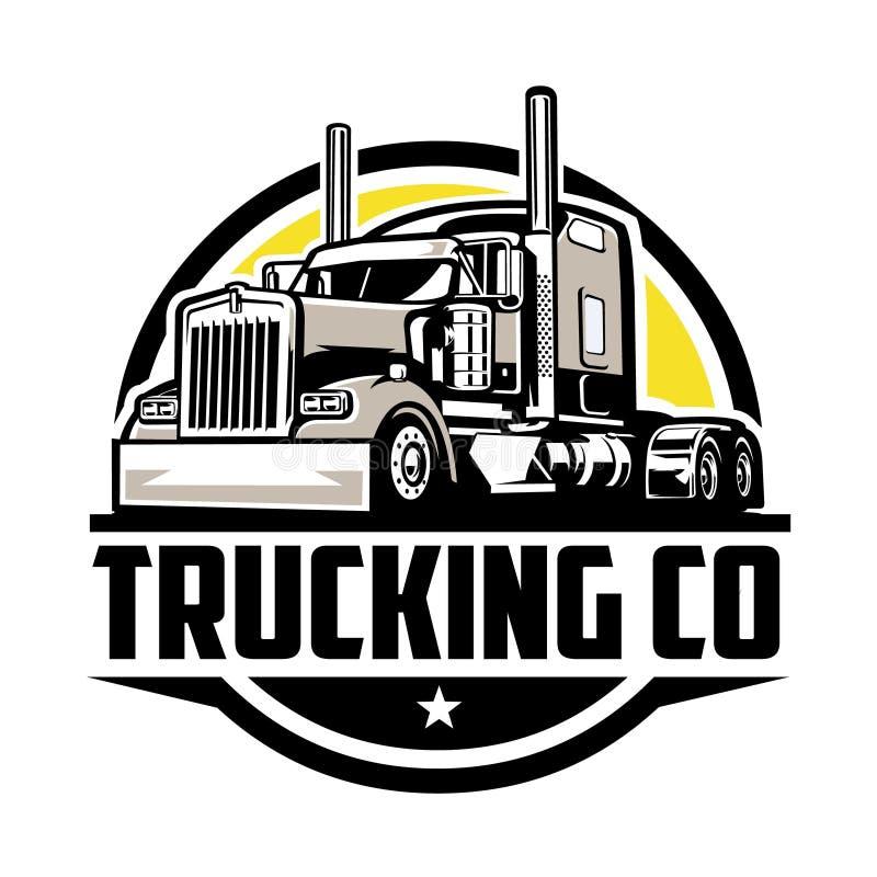 Free Trucking Company Logo. Premium Circle Badge Emblem Logo Royalty Free Stock Images - 213734739