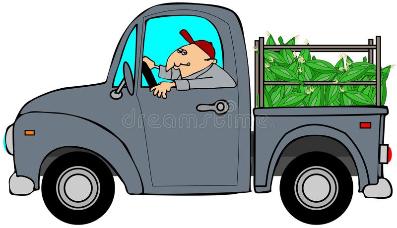 Truckload of corn stock illustration