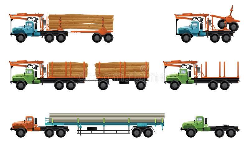 Download Trucks stock vector. Image of crane, tractive, short - 17293318