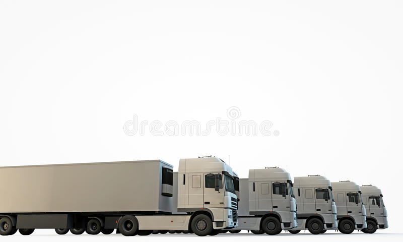 Download Trucks stock illustration. Image of shipping, logistic - 25595399