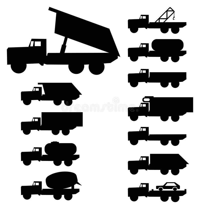 Trucks royalty free illustration