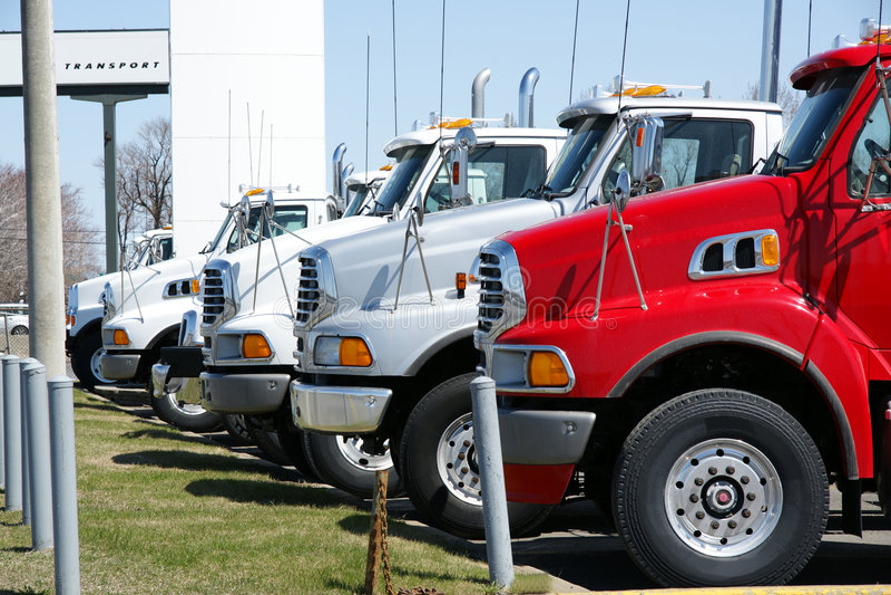 Download Trucks stock photo. Image of full, drive, line, dealership - 9036360