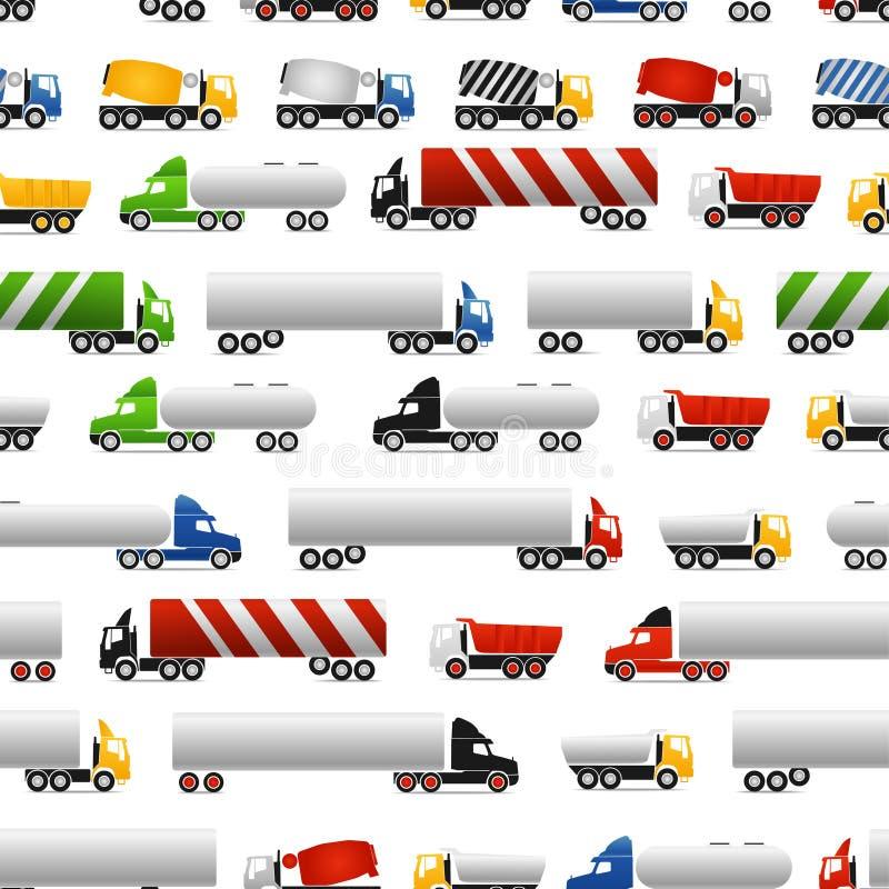 Trucks background vector illustration