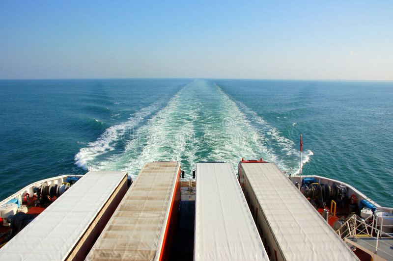 Download Trucks on a ferry stock image. Image of boat, ferry, journey - 3550129