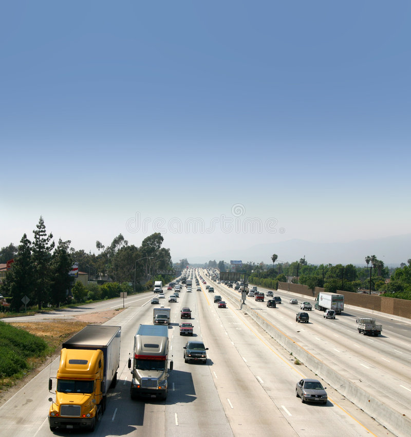 Download Trucks on Highway stock photo. Image of autos, motorized - 2203244