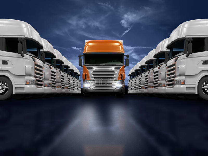Trucks Presentation Stock Photography