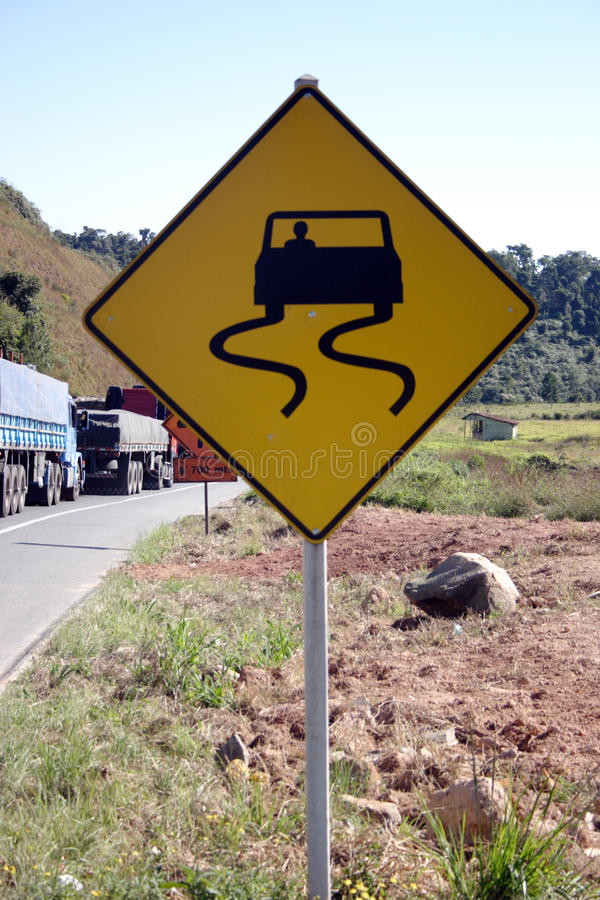Download Trucks and road sign stock photo. Image of orange, metal - 33719102