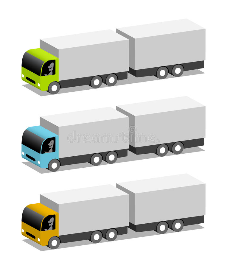 Trucks with trailers stock illustration