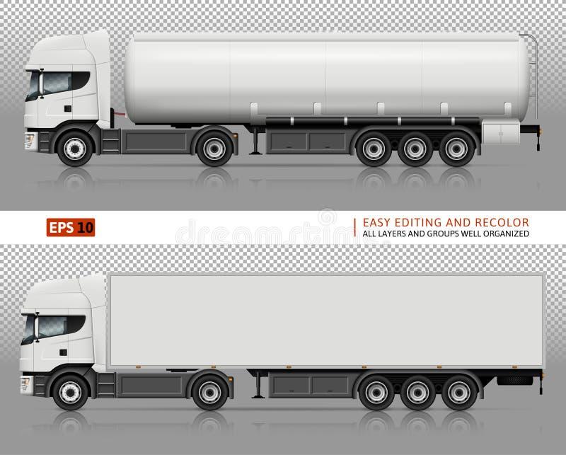 Trucks vector mock-up. stock illustration