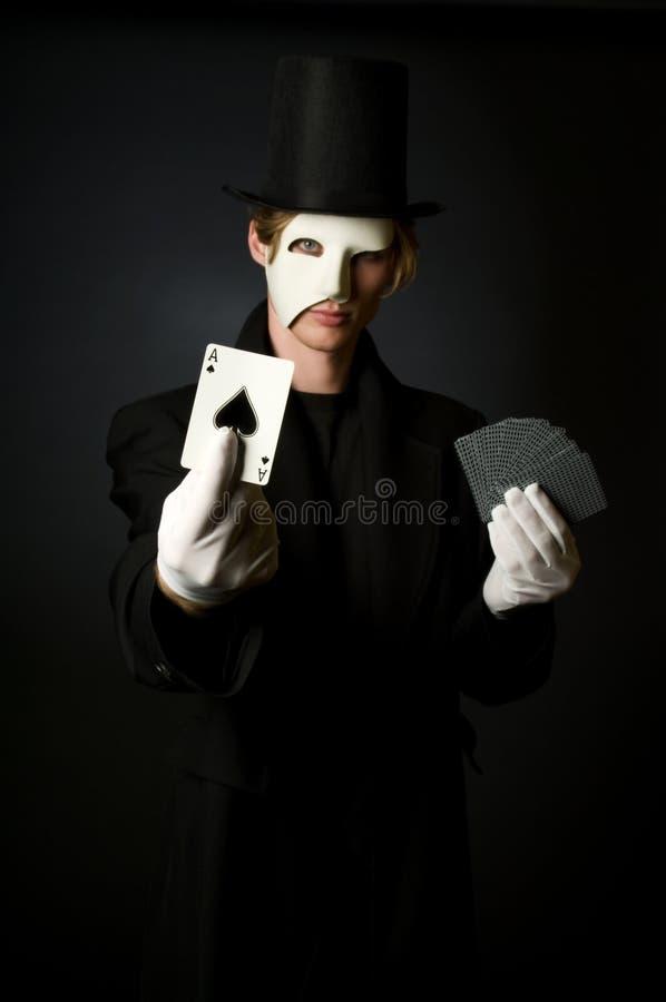 Truco de tarjeta mágico fotos de archivo