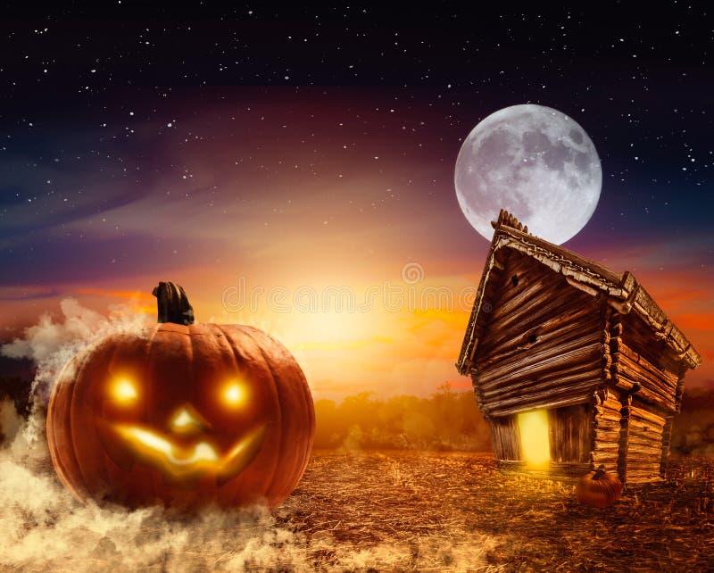 Truco-o-tratar el fondo de Halloween imagen de archivo