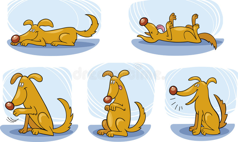 Trucos del perro ilustración del vector