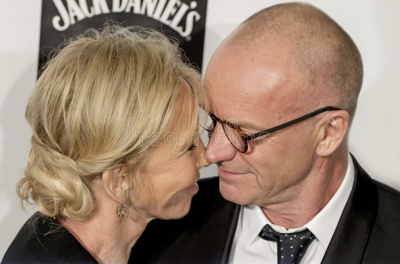 Trudie Styler and Sting royalty free stock photography
