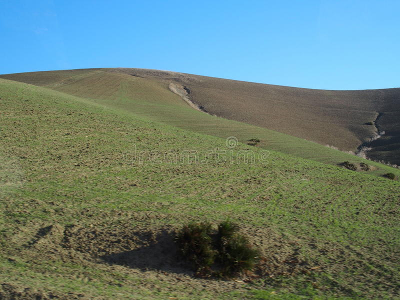 Trudny wieś krajobraz w Maroko zdjęcia royalty free