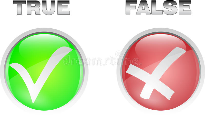Download True false button stock vector. Image of allowed, icon - 16891866