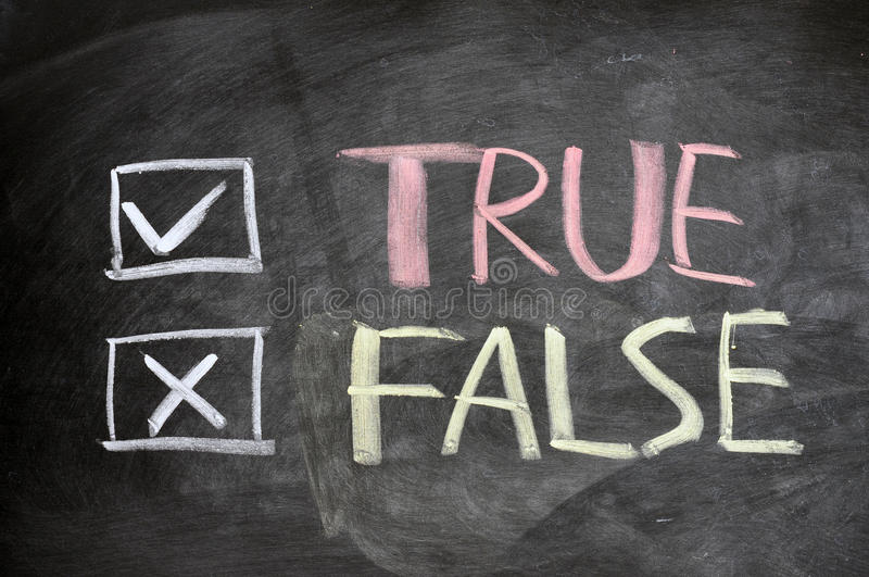 Download True And False Check Boxes Written On A Blackboard Stock Illustration - Image: 22510937