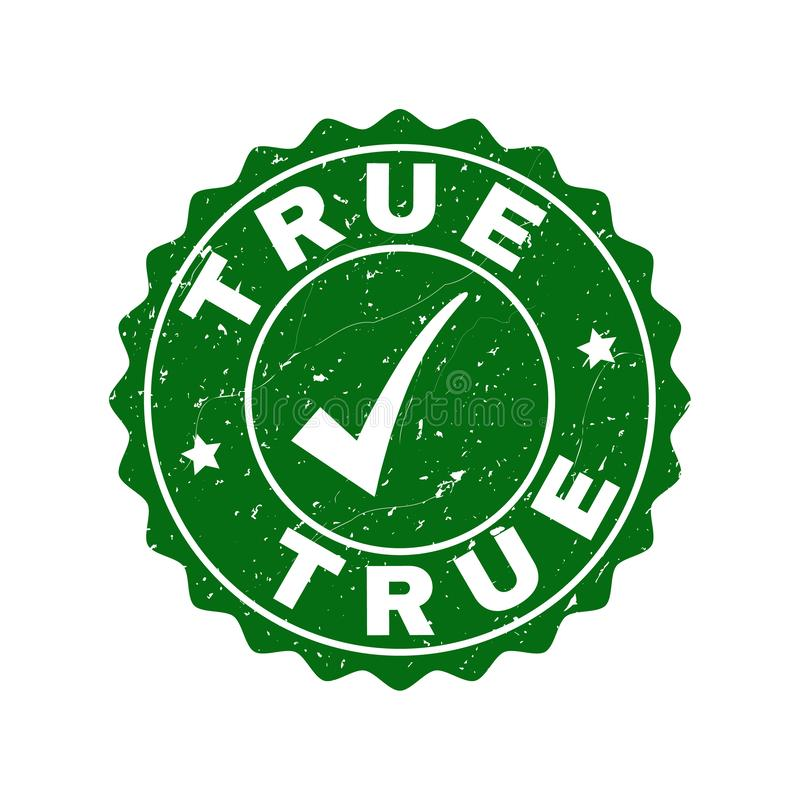 True Grunge Stamp with Tick royalty free illustration