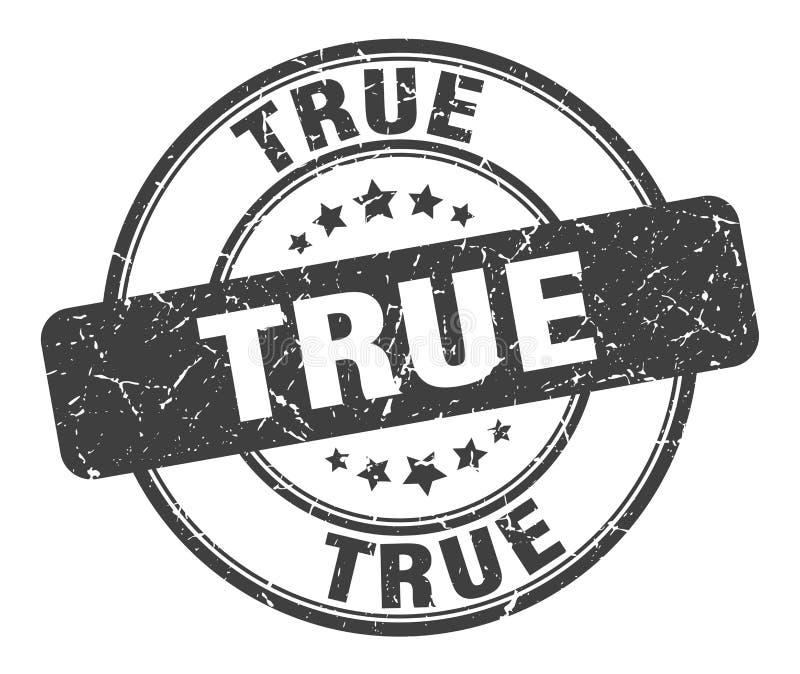True stamp. True grunge vintage stamp isolated on white background. true. sign royalty free illustration