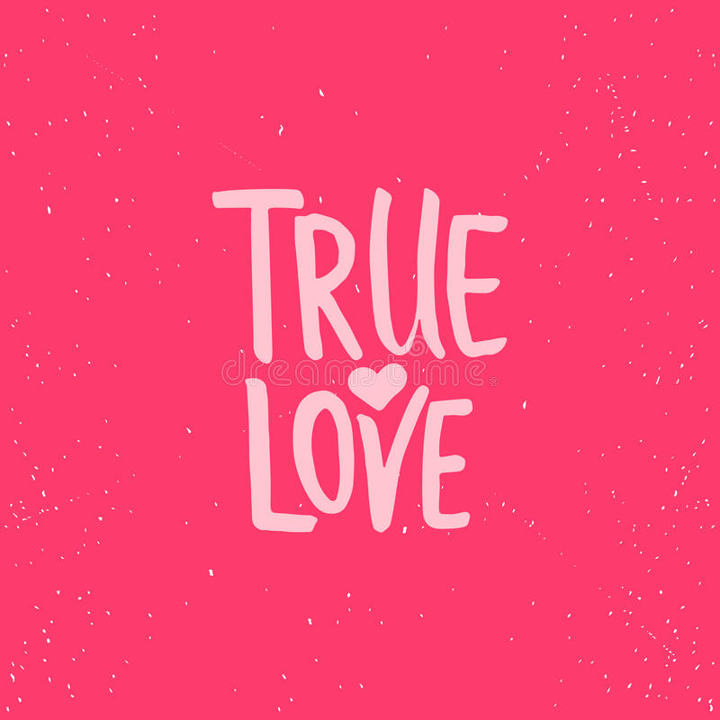 True love lettering valentines day calligraphy phrase isolated on download true love lettering valentines day calligraphy phrase isolated on the background fun brush altavistaventures Image collections