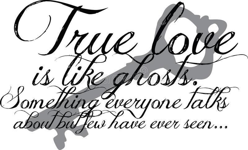 True Love Quote with key royalty free illustration