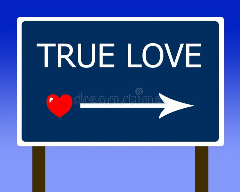True love sign red heart royalty free illustration