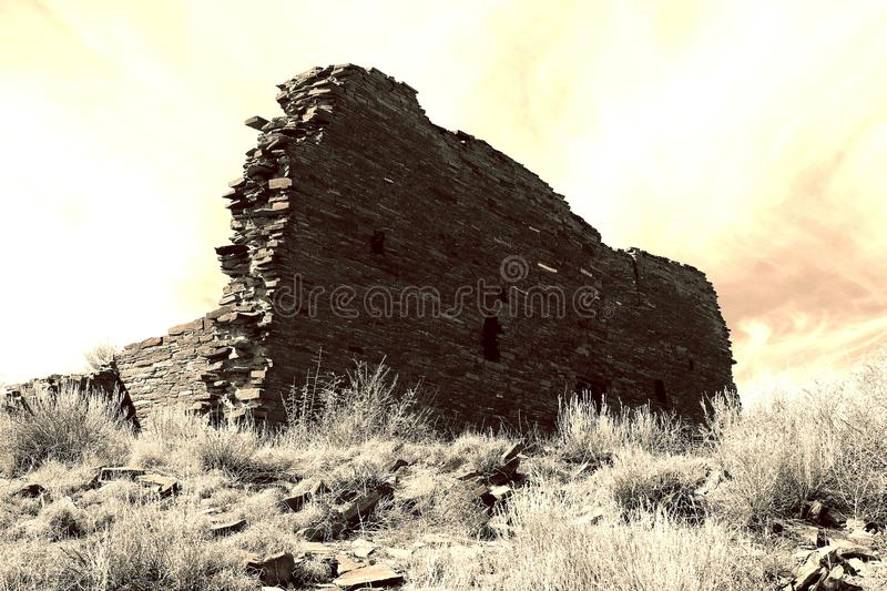 True New Mexico Southwest Style!. Chaco Canyon In New Mexico royalty free stock images