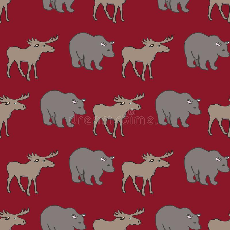 The True North Strong and Free Collection Repeat Pattern Vector royalty free illustration