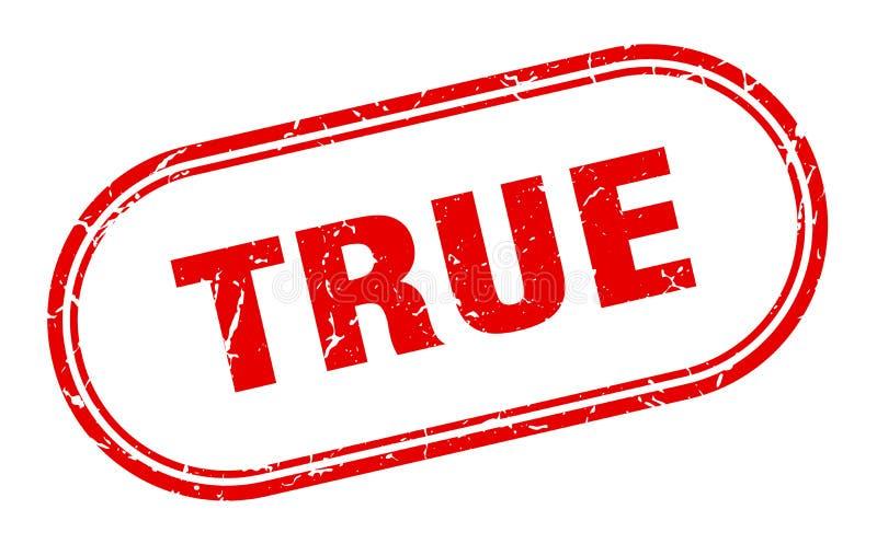 True stamp. True grunge vintage stamp isolated on white background. true. sign stock illustration