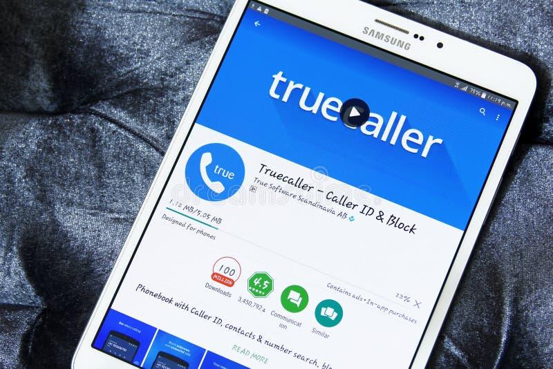 Truecaller app royaltyfri fotografi