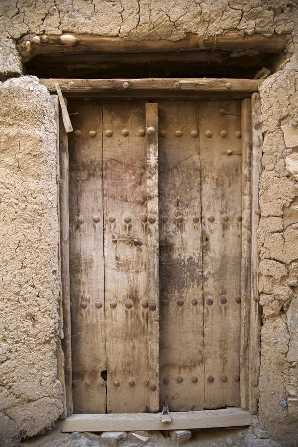 The amazing Doors of abandoned buildings on Oman. The truely amazing coloured doors of abandoned buildings in the countryside on Oman royalty free stock photos