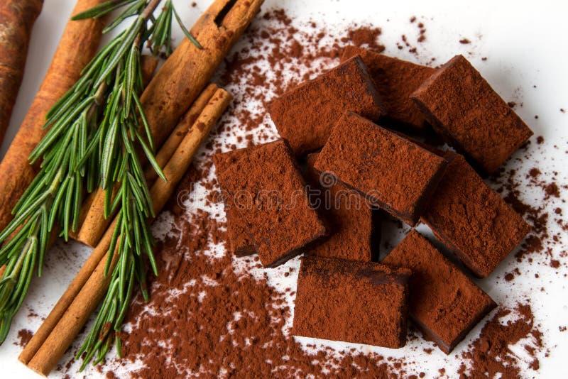 Trufa de chocolate fotos de archivo