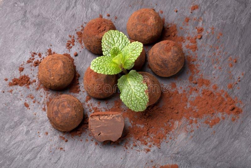 Trufa de chocolate foto de archivo libre de regalías