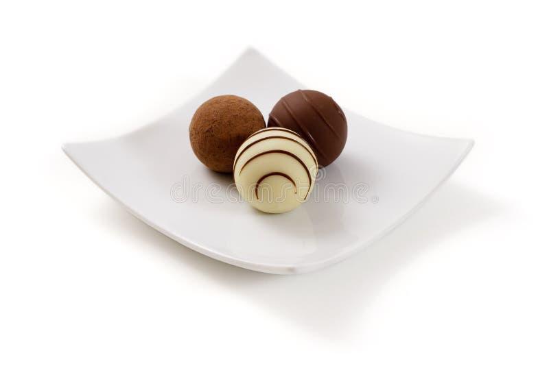Trufas de chocolate imagem de stock royalty free