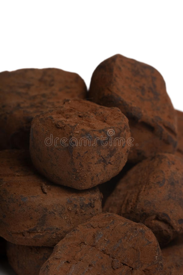 Trufas de chocolate imagens de stock royalty free