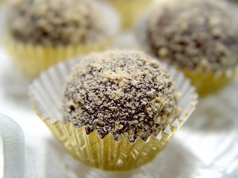 Trufas de chocolate imágenes de archivo libres de regalías