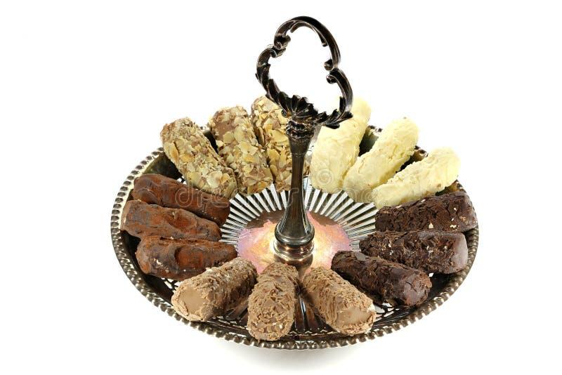 Trufas de chocolate belgas fotografia de stock
