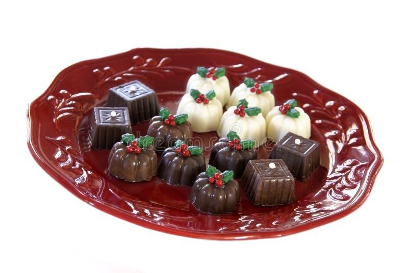 Trufas de chocolate do Natal fotografia de stock royalty free
