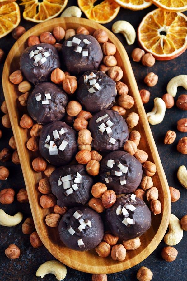Trufas de vegan diet fotografia de stock royalty free