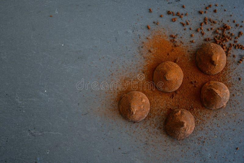 Trufas del cacao imágenes de archivo libres de regalías