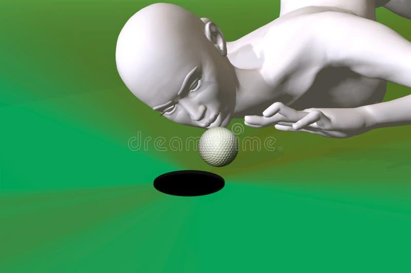 Truffando al golf 3d rende royalty illustrazione gratis