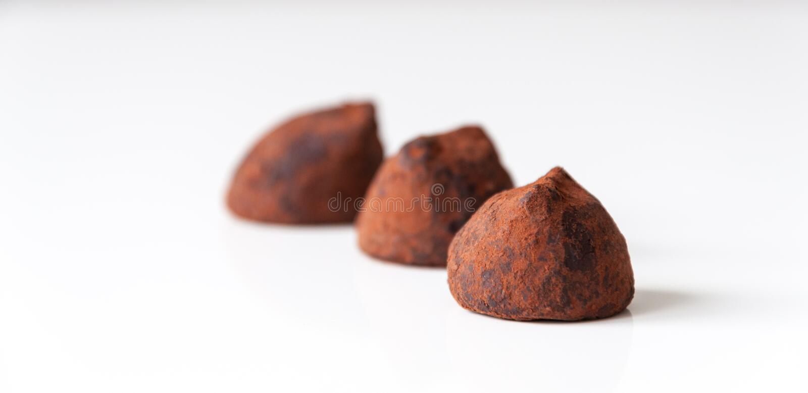 Truffels do chocolate imagem de stock royalty free