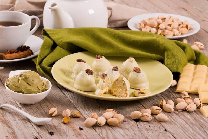Truffes de pistache photos stock