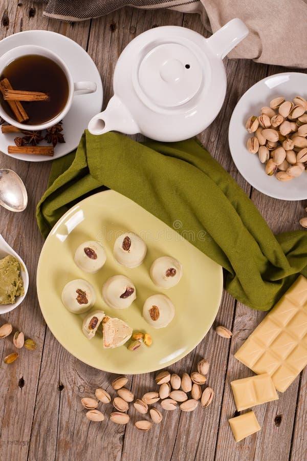 Truffes de pistache image stock