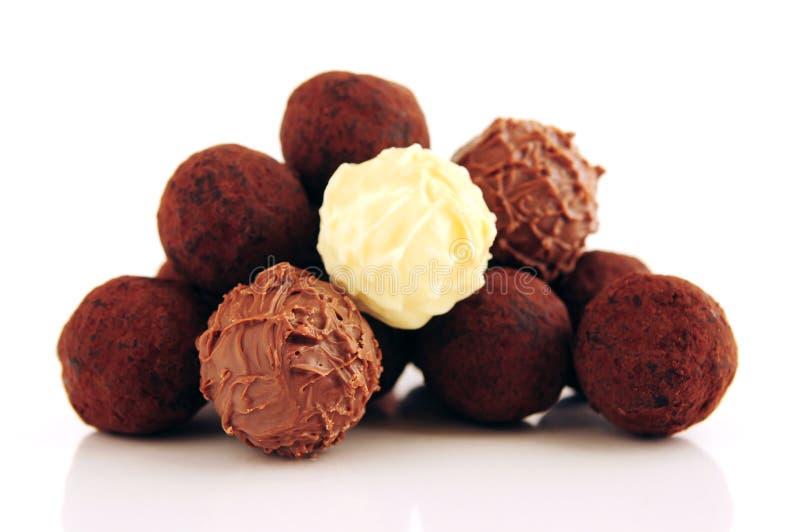 trufle czekoladę zdjęcia stock