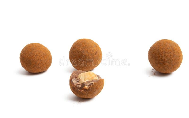 Trufle czekoladowe z orzechami obraz stock