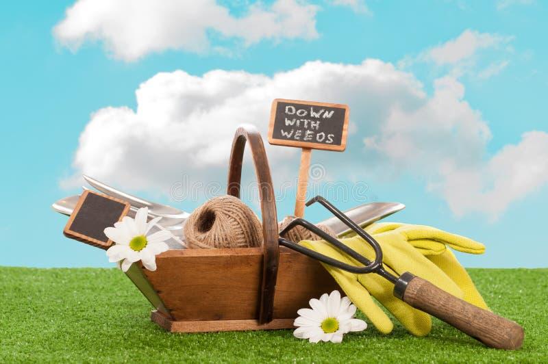 Trug de jardinagem fotos de stock