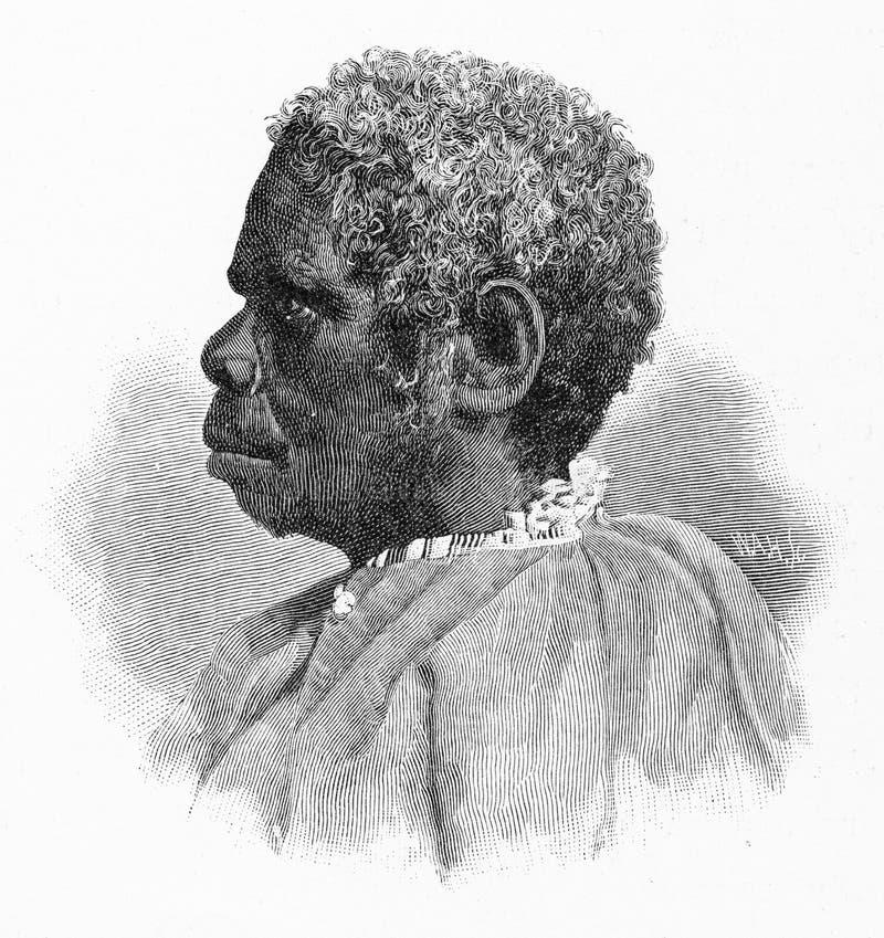 Truganini,塔斯马尼亚的土人的为时 向量例证