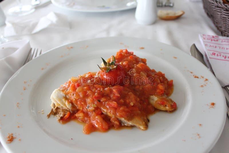 Truite en sauce photos stock